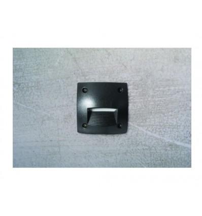 Encastré mur carré DEVON Led 3W GX53 Bl. IP66 - IK10 coloris blanc