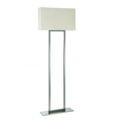 GINA - lampe à poser E27-maxi 60W - Coloris Nickel satiné -IP20-abat jour rectangulaire