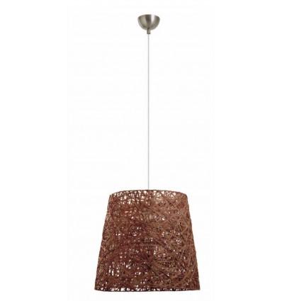 Suspension FIYI en fibre naturelle de coloris marron