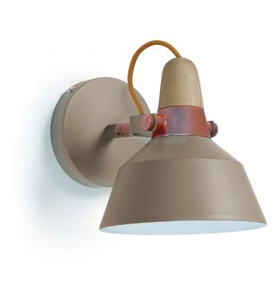 CLOE applique -Gris Pierre -IP20 - gamme Acier bi colore