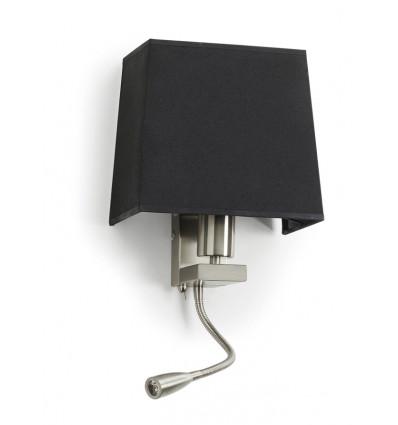 FIRENZE -Applique tête de lit - abat jour rond - maxi E27-60 w + LED - Coloris Nickel