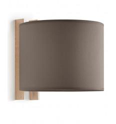 WOOD-Applique design cadre bois - finition abats jours circulaire pour éclairer une tête de lit