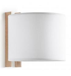 WOOD-Applique design cadre bois - Abat jour BLANC