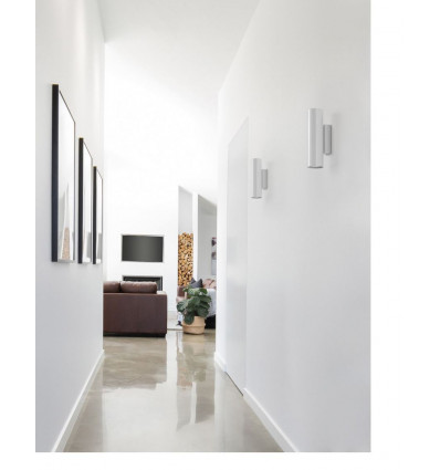Applique Tania - coloris blanc - 2 * GU 10- up&DOWN