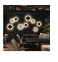 Applique Circular D250 MM - coloris NOIR - 1155 lms- 3000 k